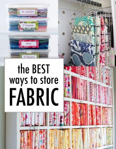 The best way to store fabric!