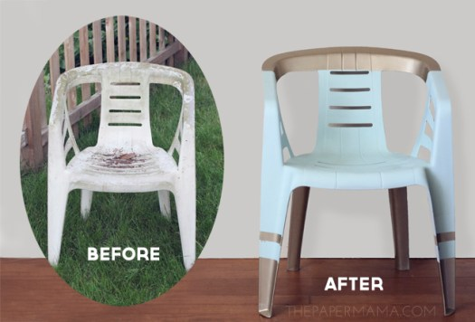 How To Paint A Plastic Outdoor Chair Isn T This Beautiful