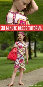 30 minute knit dress tutorial!