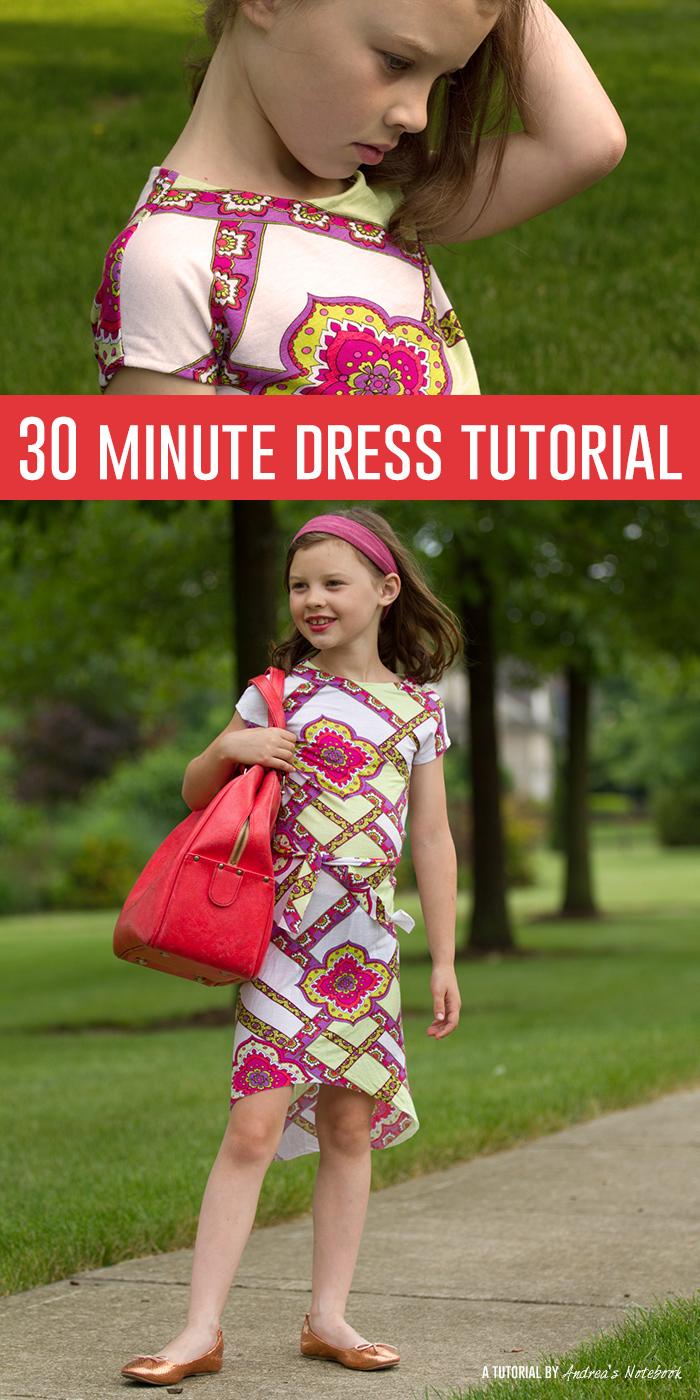 30 minute knit dress tutorial!