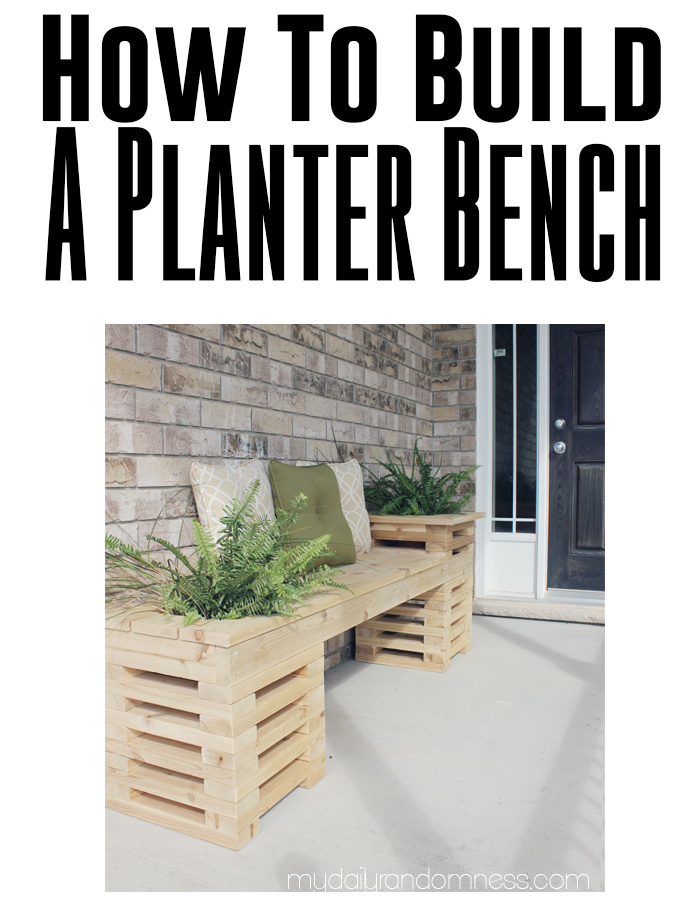 How to build an planter bench. LOVE!