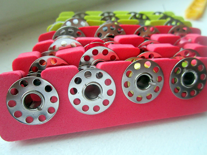 Great sewing hacks! I had never thought to store bobbins this way!