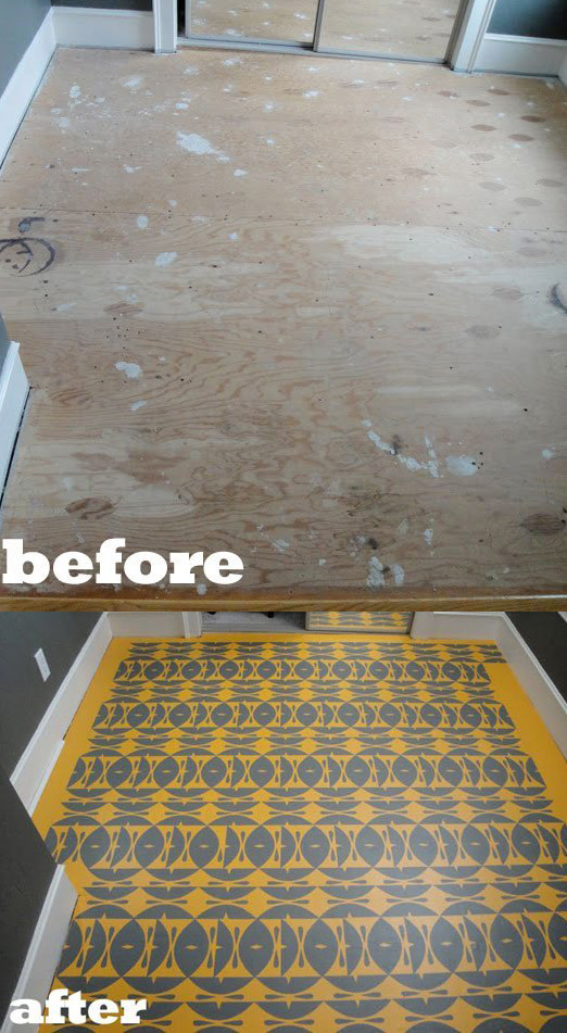 Tons of creative flooring ideas!