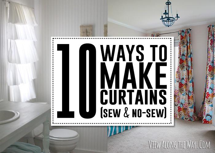 10 Ways To Make Curtains Sew & No Sew