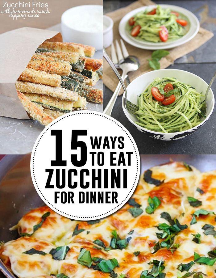 15 zucchini recipes for dinner! Yum! AndreasNotebook.com
