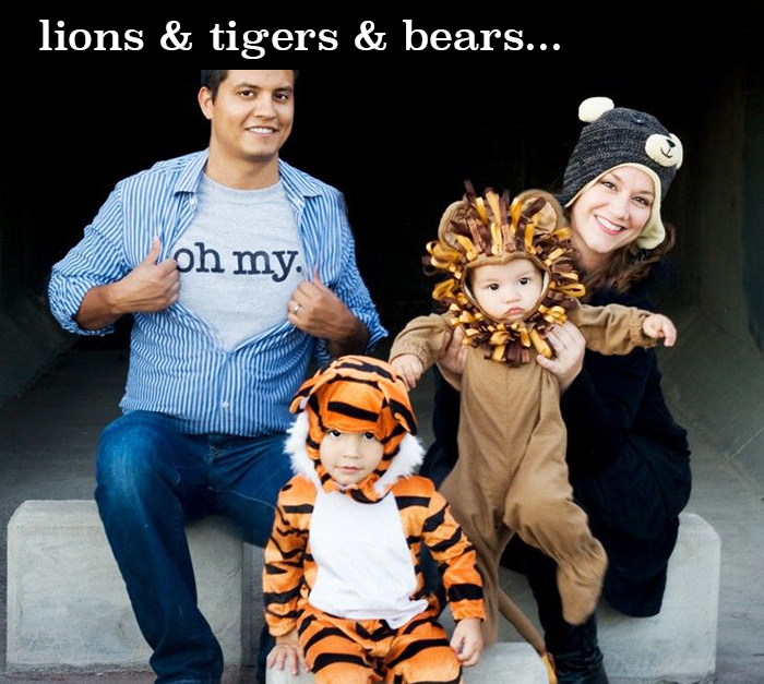 Lions and tigers and bears oh my! costume