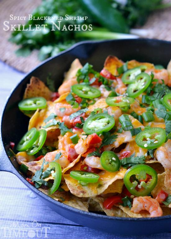 skillet shrimp nachos