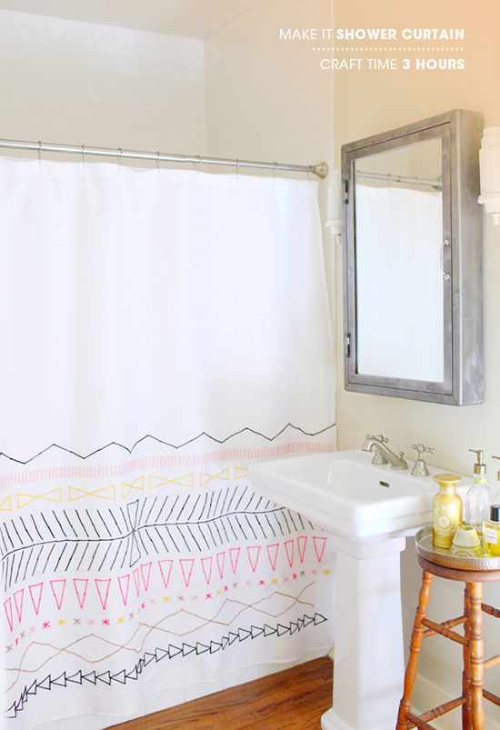 DIY shower curtain tutorials