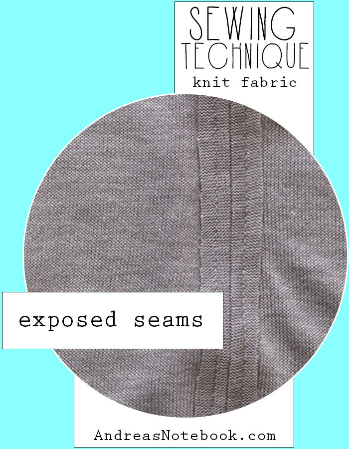 How to sew an exposed seam