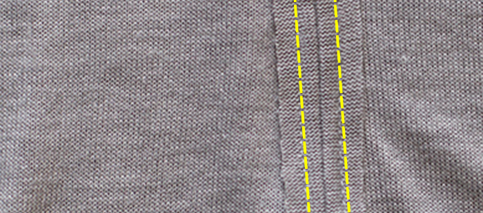 How to sew exposed seams