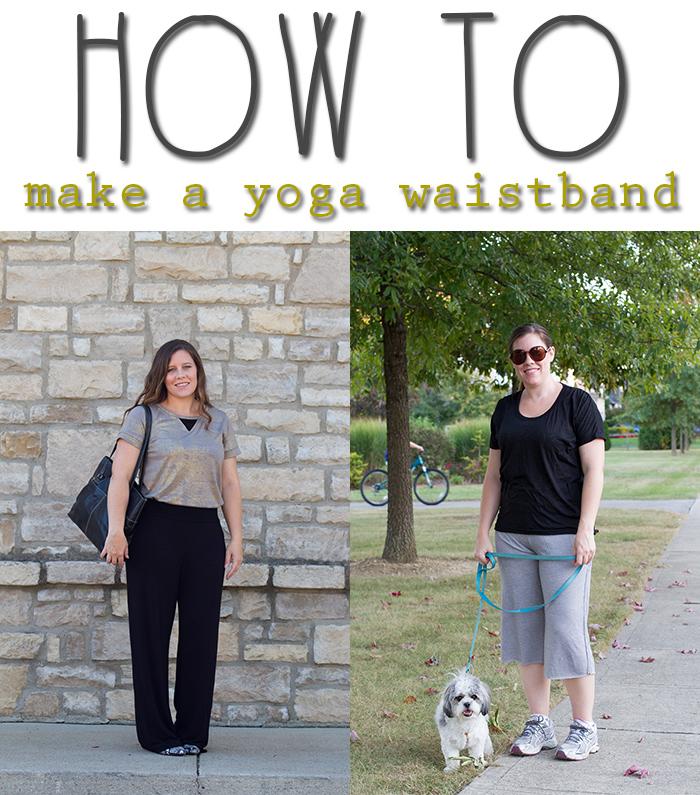 how to make a yoga waistband