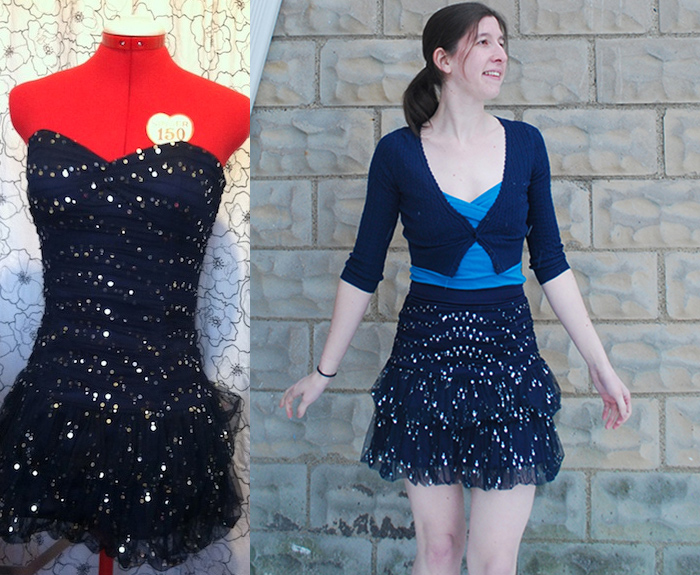 DIY formal dress refashion