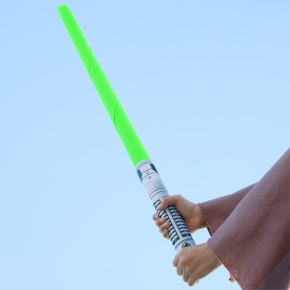 Paper light saber! Totally perfect. Free printable.