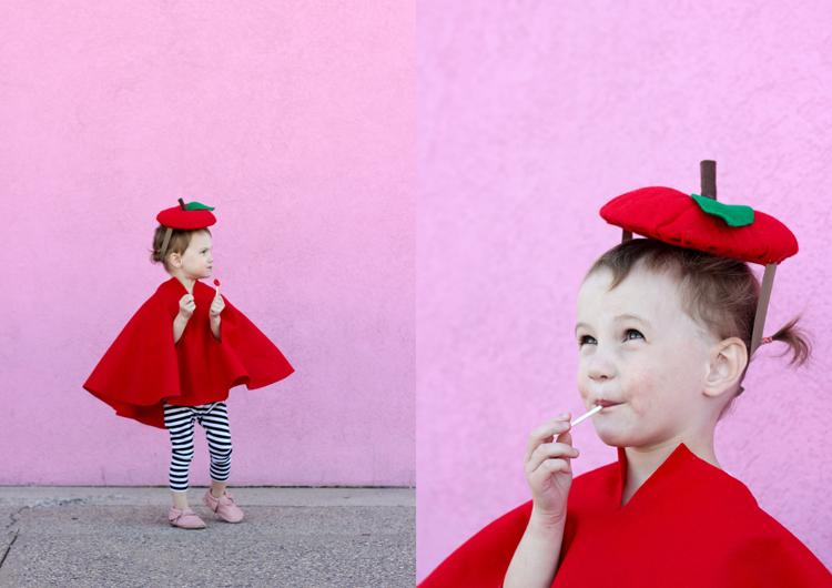 Adorable NO SEW apple costume