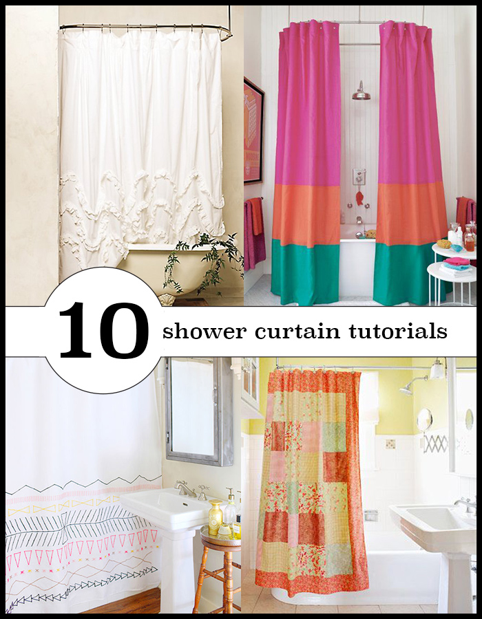 10 lovely shower curtains you can make yourself! Sew or no-sew tutorials