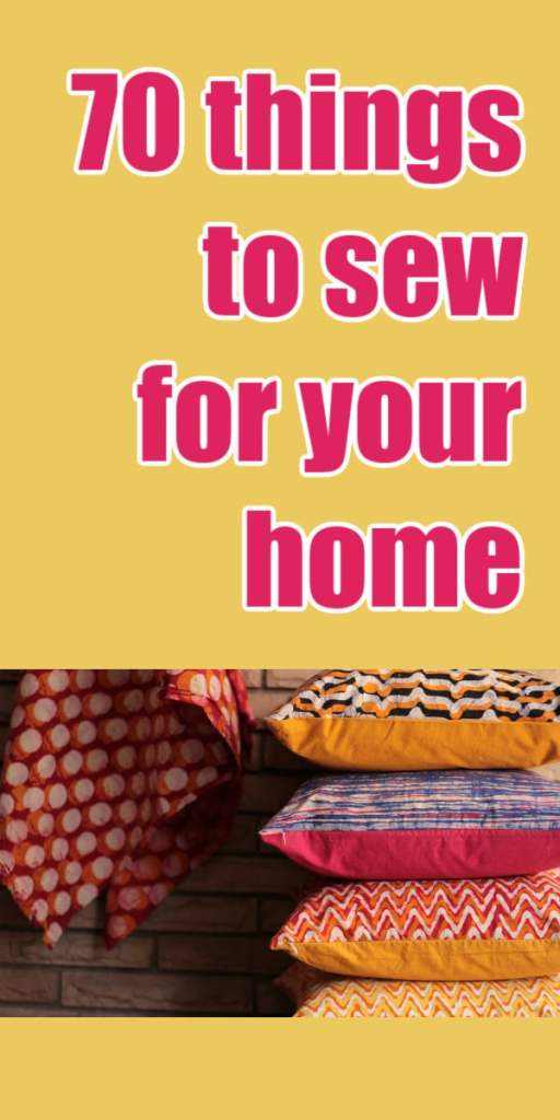 70 things to sew for your home yellow pillows pink