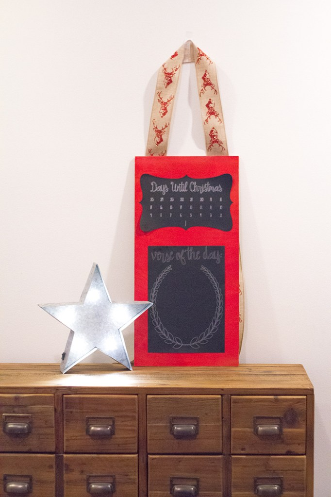 DIY Chalkboard Advent Calendar tutorial