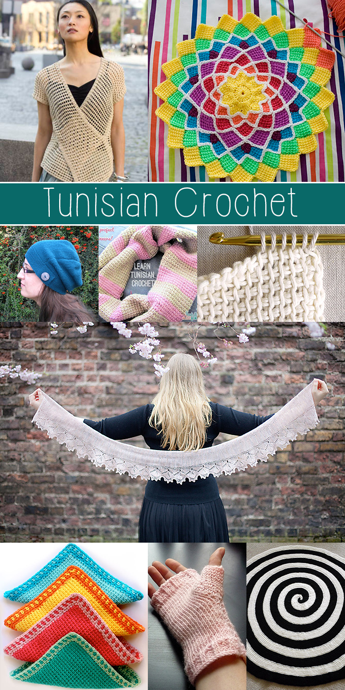 Tunisian crochet tutorials - MUST SEE!