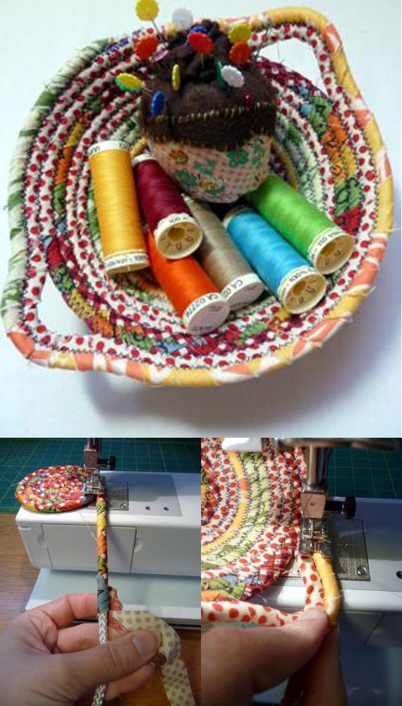 Make fabric scrap bowls!