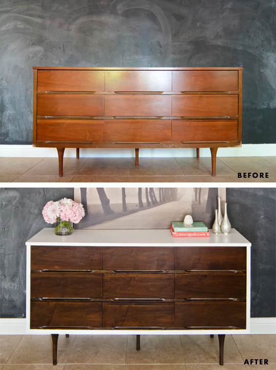 How to stain veneer furniture - fantastic before and after