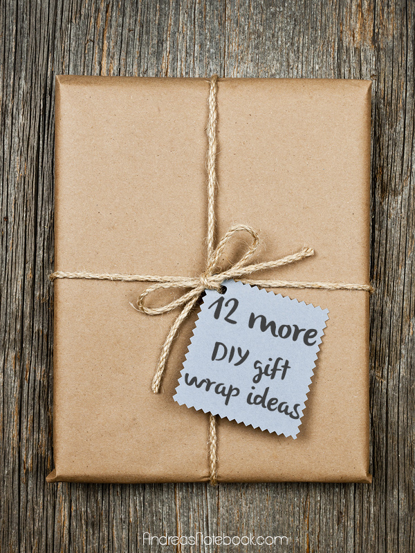 12 more creative DIY gift wrap ideas - sewing & paper craft