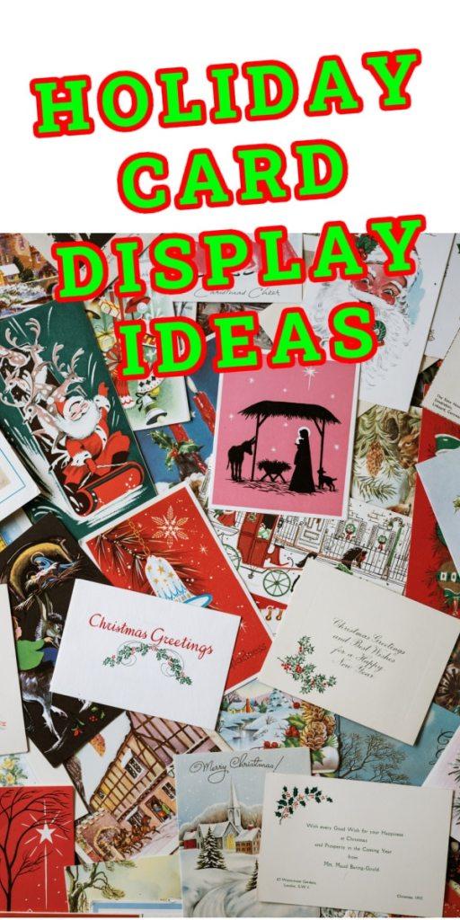 CHRISTMAS holiday card pile display ideas