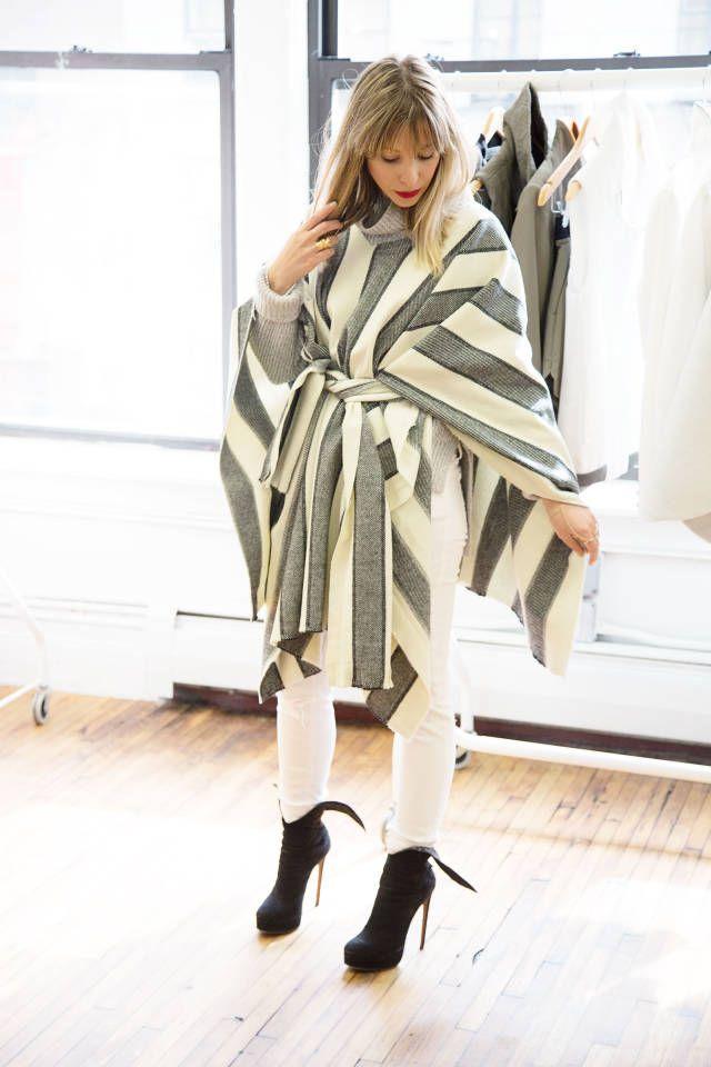 DIY blanket coat tutorial