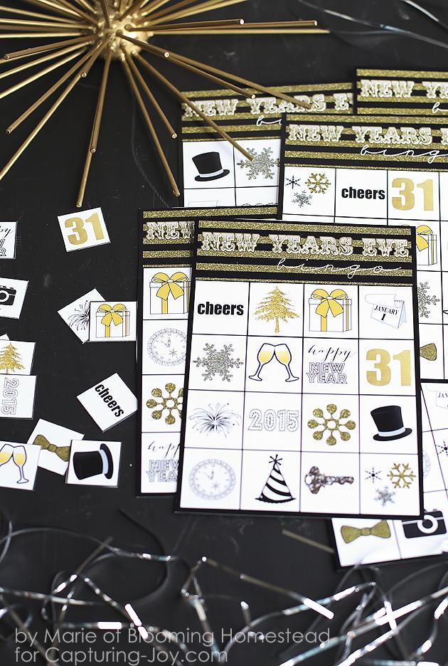 FUN New Years Eve printable BINGO game