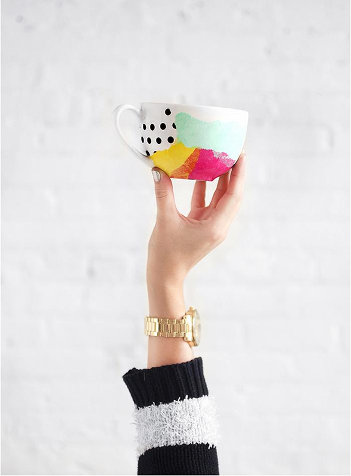 DIY tissue paper mug