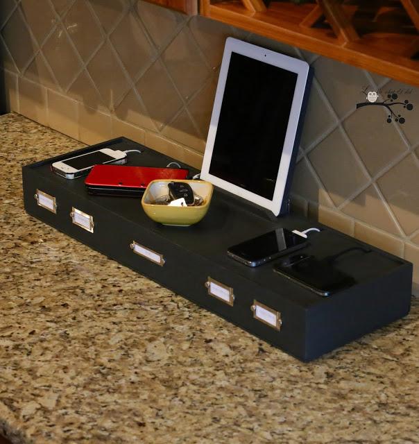 DIY charging station - shadow box!