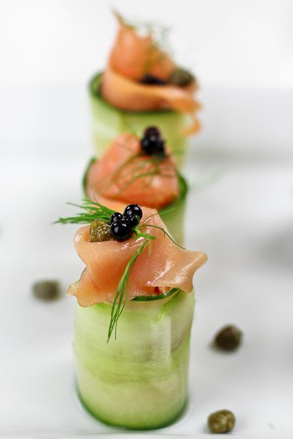 Cucumber salmon rolls. YUM