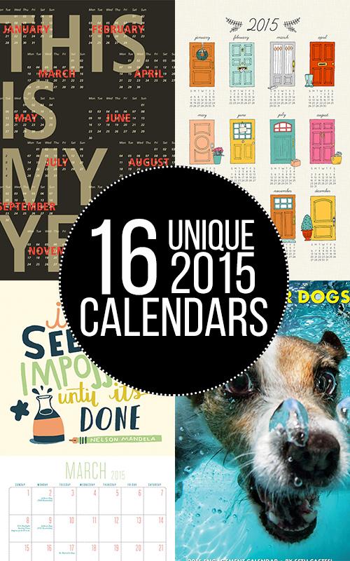 WANT! So many great calendars