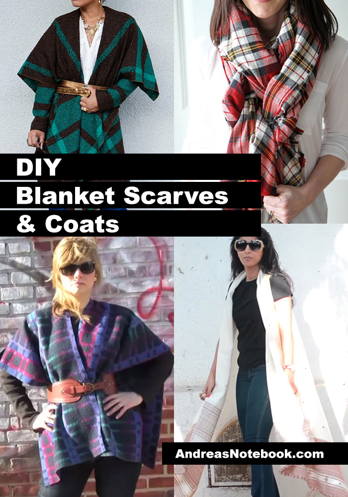 DIY blanket scarves and coats
