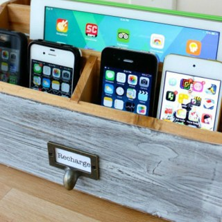 TONS of DIY charging station ideas