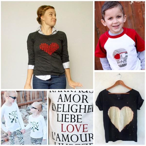 DIY Valentine's Day Shirt Tutorials