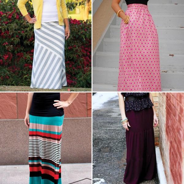 8 Maxi skirt tutorials