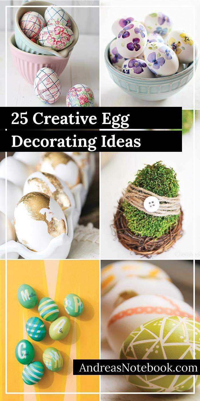 25 creative egg decorating ideas - tutorials