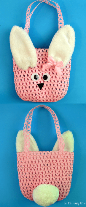 Bunny purse made using dollar store finds