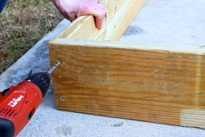 DIY Garden Box--Putting it together