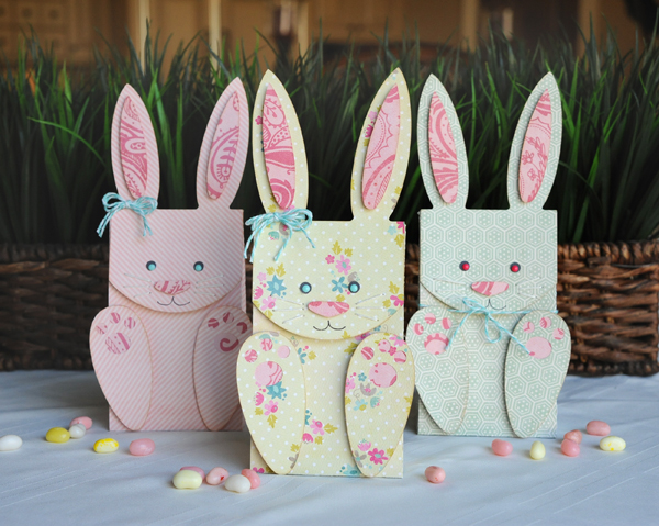 Use craft paper and a die cutting machine to make these bunny bags