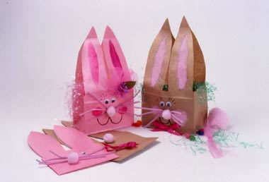 Bunny Paper Bags with Whiskers & Ears