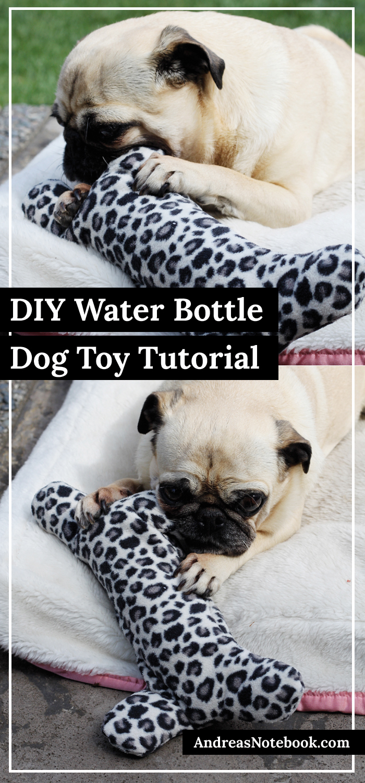DIY dog bone water bottle holder tutorial - Dogs LOVE these!