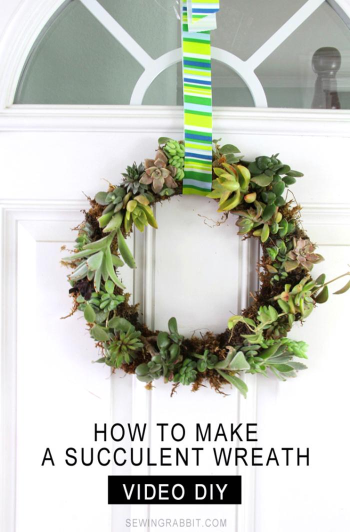 DIY succulent wreath tutorial