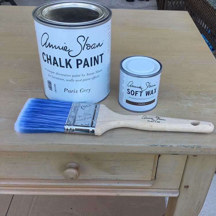 How to chalk paint furniture.
