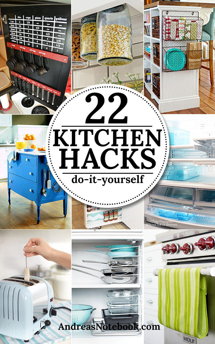 22 DIY Kitchen Hacks & Tips