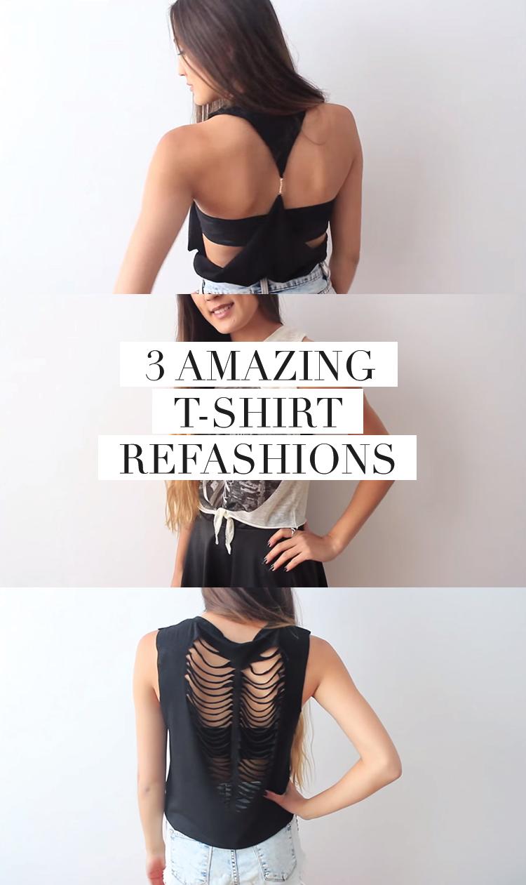3 t-shirt refashion tutorials you'll drool over!