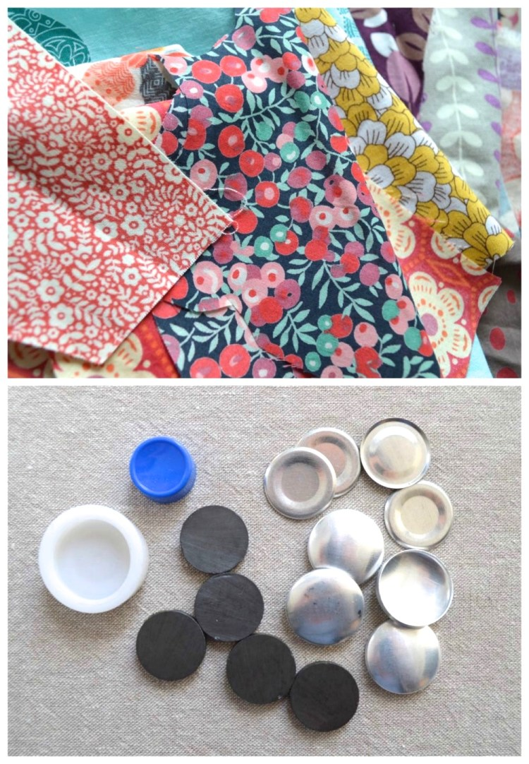 DIY : Fabric Scrap Magnets