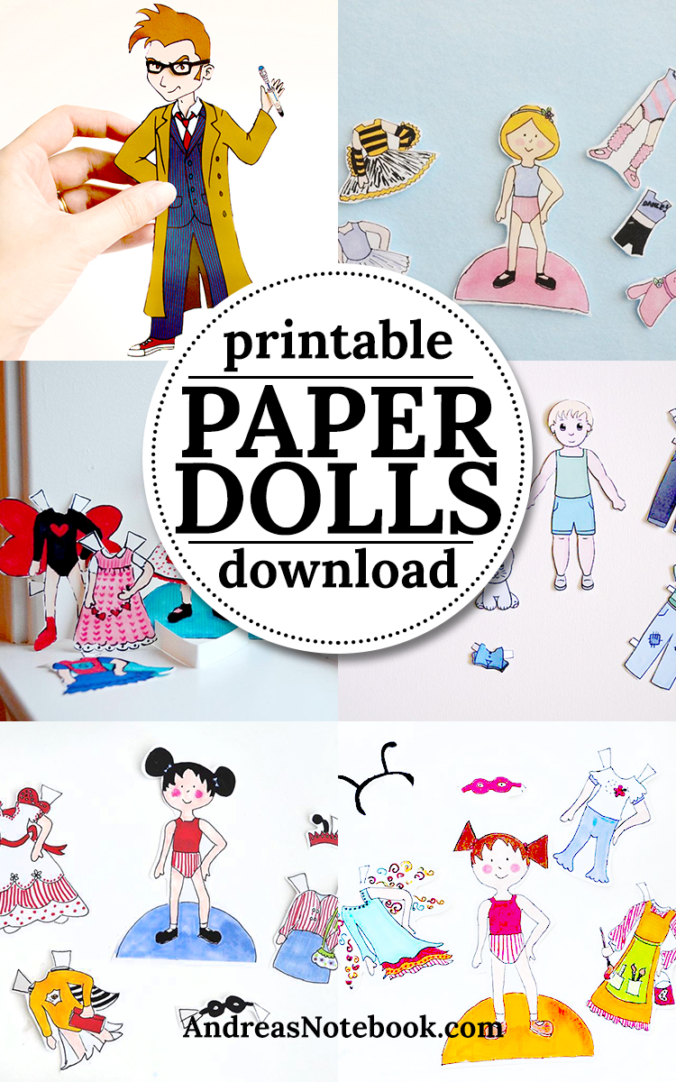 Printable Paper Dolls! Download to your computer and print from home.