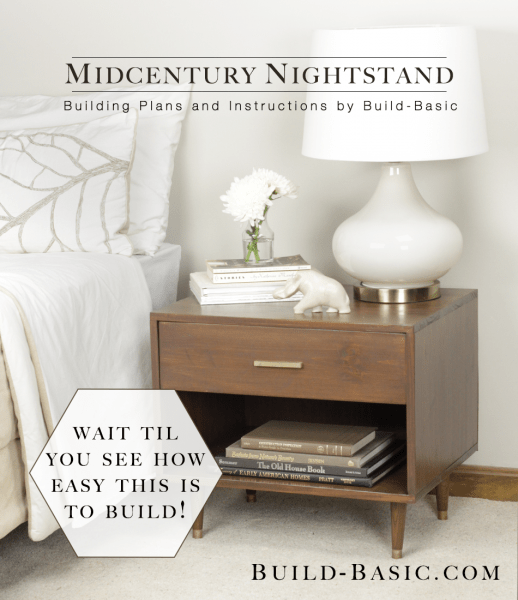 How to build your own midcentury nightstand with plans and instructions by Build Basic