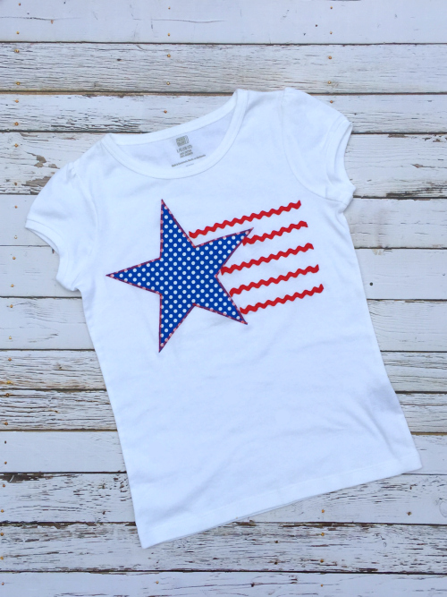 Stars and Stripes T-Shirt Tutorial - great for the 4th of July!